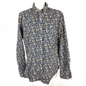 Club Monaco button shirt strawberry print slim fit